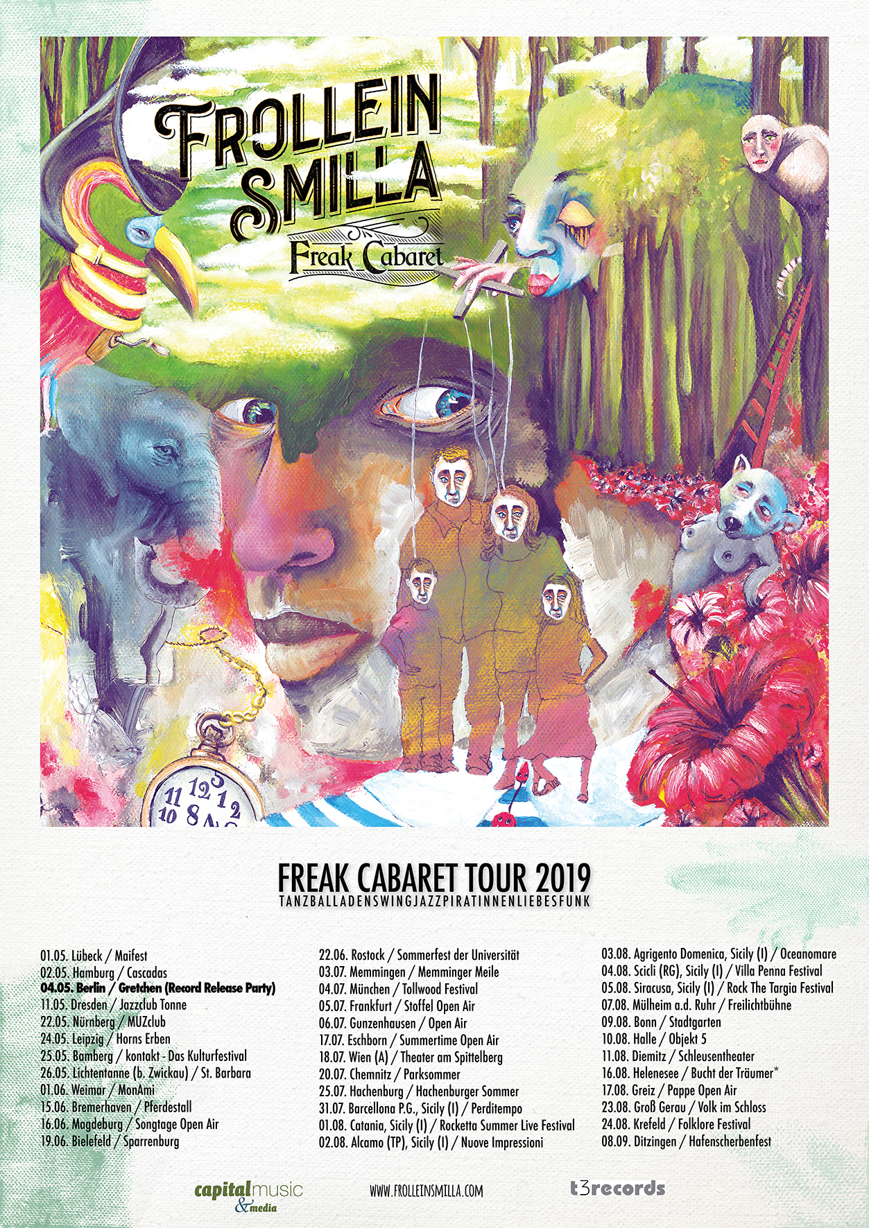 Plakat Freak Tour Summer 2019